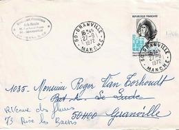 Bande N° 1706 Seul Sur Enveloppe De Granville - 1961-....