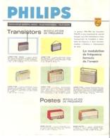 PHILIPS  Catalogue Général Radio Transistors Electrophone Télévision Gamme 1963/1964 - Werbung