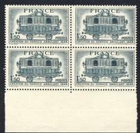 +A1889. France 1944. Service Postal Ambulant. Bloc Of 4. Yvert 609. MNH(**). - France