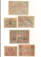 3 Notgeldscheine Gaming 10, 20 + 50 H - Kilowaar - Bankbiljetten