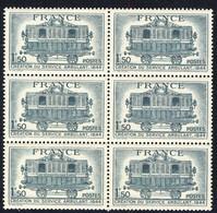 +A1891. France 1944. Service Postal Ambulant. Bloc Of 4. Yvert 609. MNH(**). - France