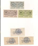3 Notgeldscheine Gmünd 10, 20 + 50 H - Mit Gemeindestempel - Coins & Banknotes