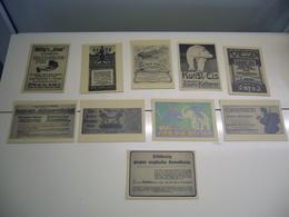 Un Lot De 10 Cartes Publicitaires - Publicité