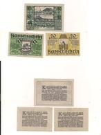 3 Notgeldscheine Hainburg 10, 20 + 40 H - Coins & Banknotes