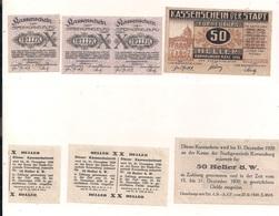 3 Notgeldscheine Korneuburg 10, 20 + 50 H - Coins & Banknotes