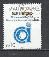 MAURITIUS 2004 - INDIAN OCEAN COMMISSION ANNIVERSARY -  POSTALLY USED OBLITERE GESTEMPELT USADO - Maurice (1968-...)
