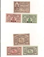 3 Notgeldscheine Kremsmünster 10, 20 + 50 H - Mezclas - Billetes
