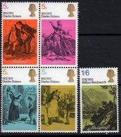 Great Britain 1970 Literary Anniversaries I Set Of 5, MNH, SG 824/8 - Ongebruikt