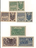 3 Notgeldscheine Kirchberg Bei Linz 10, 20 + 50 H - Kilowaar - Bankbiljetten