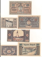 3 Notgeldscheine Aigen 10, 20 + 50 H - Coins & Banknotes