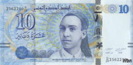 Tunisie 10 Dinars (P96) 2013 (Préf: D/24) -UNC- - Tusesië