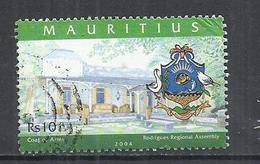 MAURITIUS 2004 - RODRIGUES REGIONAL ASSEMBLY -  POSTALLY USED OBLITERE GESTEMPELT USADO - Mauritius (1968-...)