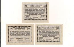 3 Notgeldscheine Spitz A.d.D. 10, 20 + 50 H - (1) - Coins & Banknotes