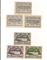 3 Notgeldscheine Mitter Arnsdorf 10, 20 + 50 H - Kilowaar - Bankbiljetten