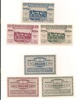 3 Notgeldscheine Weitenegg 10, 20 + 50 H - Kilowaar - Bankbiljetten