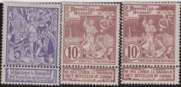 Belgie  .   OBP   .    71/73     .   *    .   Ongebruikt Met Charnier  .   /  .      Neuf Avec Charniere - 1894-1896 Exhibitions
