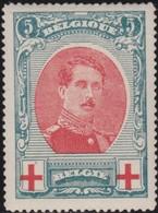 Belgie  .   OBP   .      132       .   *    .   Ongebruikt Met Charnier  .   /  .      Neuf Avec Charniere - 1914-1915 Croix-Rouge