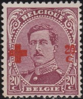 Belgie  .   OBP   .      155         .   *    .   Ongebruikt Met Charnier  .   /  .      Neuf Avec Charniere - 1918 Croce Rossa