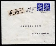 A5808) Schweiz R-Brief Basel 03.10.32 N. Düren M. MeF Mi.253 (2) - Briefe U. Dokumente