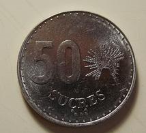 Ecuador 50 Sucres 1988 Varnished - Ecuador