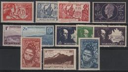 MART 4 - MARTINIQUE Lot De 12 Val. Neufs* Ou Obl. - Martinique (1886-1947)
