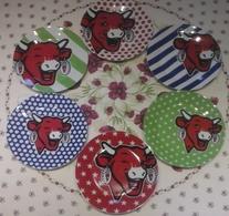 6 Assiettes Vache Qui Rit - Collector Du Fabricant - 2015 - Plates