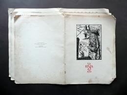 Calendario La Festa 1930 Xilografie Originali Aldo Patocchi Pellizzari - Non Classificati