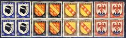 +B1558. France 1946. Armoires. Blocs Of 4 . Yvert 755-58. MNH(**). - France