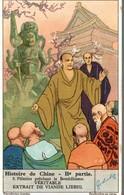 CHROMO LIEBIG HISTOIRE DE CHINE  2e PARTIE  N°2 PELERINS PRECHANT LE BOUDDHISME - Liebig
