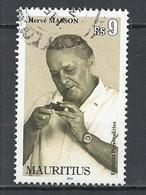 MAURITIUS 2013 - HERVE MASSON, PAINTER, POET AND JOURNALIST - POSTALLY USED OBLITERE GESTEMPELT USADO - Maurice (1968-...)