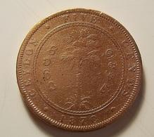 Ceylon 5 Cents 1870 Varnished - Sri Lanka