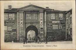 Cp Stenay Lothringen Meuse, Westlicher Kriegsschauplatz, Tor, Reklameschilder - Other Municipalities
