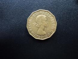 ROYAUME UNI : 3 PENCE   1955   KM 900    SUP - 1902-1971 : Monnaies Post-Victoriennes