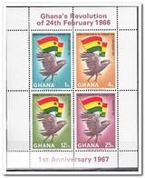 Ghana 1967, Postfris MNH, Anniversary Of The Februar Revolution - Ghana (1957-...)