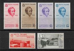 ITALY 1935,Vincenzo Bellini Composer Set,Scott # 349-354,VF MNG No Gum !! (RN-5) V$270+( For Hinged*) ! - Music