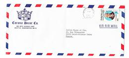 VIA AIR MAIL - Corona Decor Co. SEATTLE, WASHINGTON 98112 - Covers & Documents
