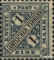 Württemberg D254 Neuf Avec Gomme Originale 1917 Numéros Dans Signs - Wuerttemberg