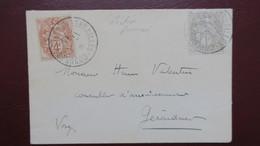 Type Blanc Obl. Congres De Versailles 17-1-1913 Sur Enveloppe Assemblée Nationale Election Poincaré President - Storia Postale