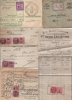 Lot De Papiers Divers Avec Timbres Ou Non - 2 Scan. - France