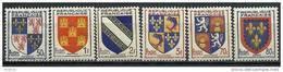 """FR YT 951 à 954 958 959 """" Armoiries De Province """" 1953 Neuf** - 1941-66 Wappen"""