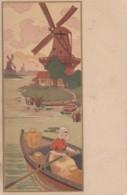 MEDSILLE--PAYSAGE HOLLANDAIS-MOULIN A VENT* 1908  (lot Pat 42) - Illustratori & Fotografie