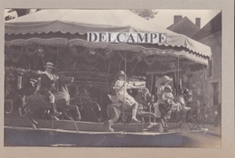 Très Belle Photo Originale D'un MANÈGE De Chevaux De Bois 1910/20 ( à Situer ) - Photos