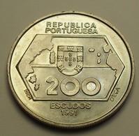 1991 - Portugal - 200 ESCUDOS, Navigations Vers L'ouest, Weshward Navigation, KM 659 - Portugal