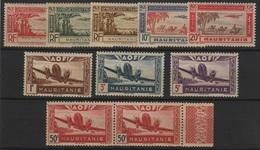 MAUR 4 - MAURITANIE 10 Val. Poste Aérienne Neufs**/* - Mauritania (1906-1944)