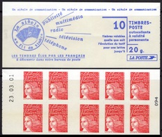 FRANCE Carnet 3085-C7 ** MNH Non Plié Marianne Du 14 Juillet Typen I Vendu Sous La Faciale 10,50 € - Booklets