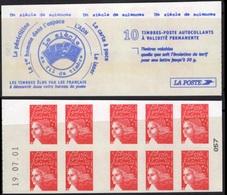FRANCE Carnet 3419-C1 ** MNH Non Plié Marianne Type II Du 14 Juillet Vendu Sous La Faciale 10,50 € - Booklets