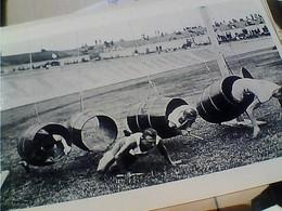 4 CARD FOTO  SPORT PARTICOLARI STRANE STORICHE ORSANTI  PALLONE GIGANTE CORSA BOTTI Botte N1995 HA7476  Formato XL - Fotografia