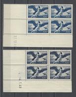 FRANCE.  YT  PA Coins Datés  N° 18-18a  Neuf **  1946-47 - Poste Aérienne