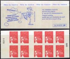 FRANCE Carnet 3419-C8 ** MNH Non Plié Marianne Du 14 Juillet Vendu Sous La Faciale 10,50 € Lucky Luke - Carnets