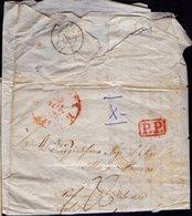 FRANCE- BORDEAUX  P.P.  Via  AIX  To CURZOLA - 25. 11. 1838. - France